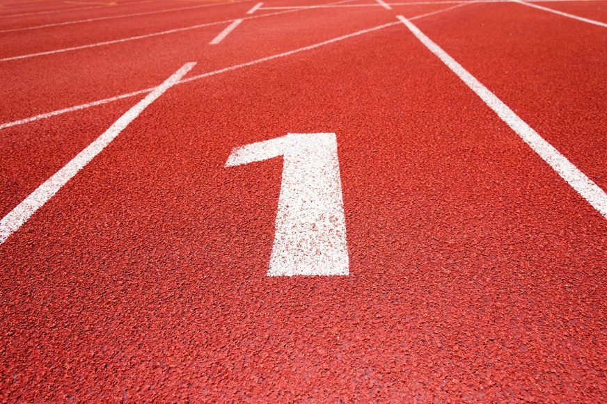 athletic track, getting ahead of your competitors