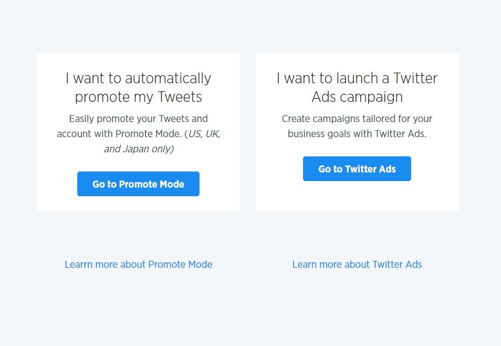 Twitter Ads startup screenshot