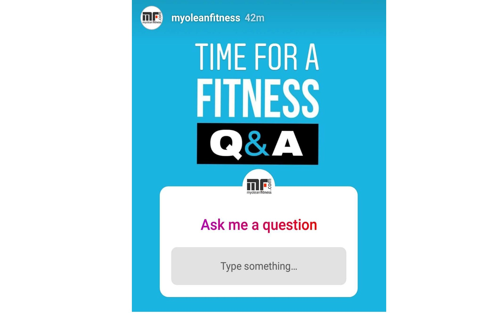 fitness q&a Instagram story